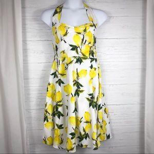 Flare Dress with Lemons